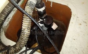 Sump pump installation or replacement