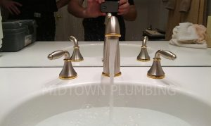 Lavatory faucet repair or replacement